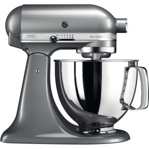 KitchenAid - Artisan 4.8L Stand mixer Silver-0