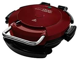 George Foreman Entertaining Pizza Plate Grill - Red -0