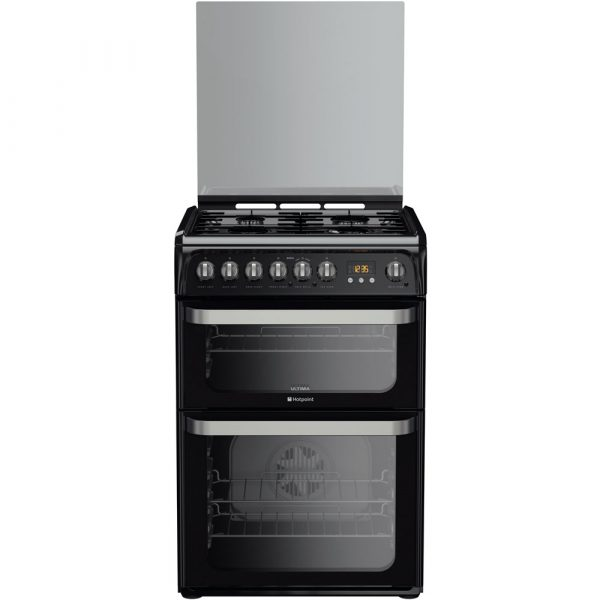 HOTPOINT Dual Fuel Cooker - Black-0