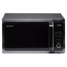 Sharp 800W 20L Freestanding Microwave I Black-0